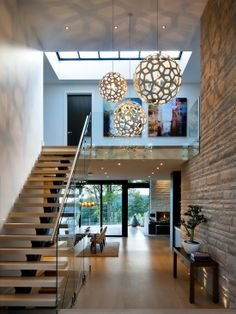 elegant modern house in west vancouver canada on world of architecture Elegant Contemporary House In West Vancouver, Canada architecture Design Exterior, Home Interior Design, Interior Architecture, Modern Interior, Modern Exterior Lighting, Luxury Interior, Decoration Inspiration, Interior Inspiration, Decor Ideas