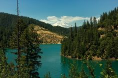 McCloud Lake, with Mount Shasta in the background