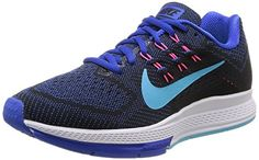 Nike Womens Air Zoom Structure 18 Lyon BlueClrwtrBlkPnk Pw Running Shoe 6 Women US -- Read more  at the image link.