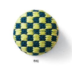 津軽で生まれた伝統模様 こぎん刺しくるみボタンストラップの会 | フェリシモ