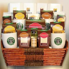 Starbucks Coffee Gifts Vancouver Delivery Gift Baskets Cafe Birthday