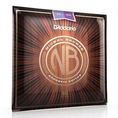 D'Addario Nickel Bronze 11 52 cordes pour guitare électro acoustique