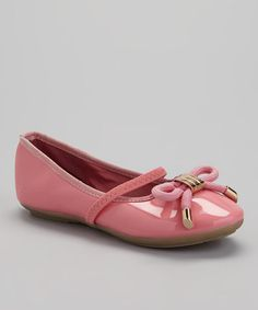Look at this #zulilyfind! Pink Patent Strap Ruby Flat by COCO Jumbo #zulilyfinds