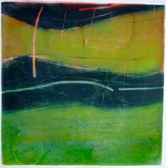 Great motion in this abstract landscape.... New Gelatin Plate MOnoprints - WetCanvas by Mark Evans