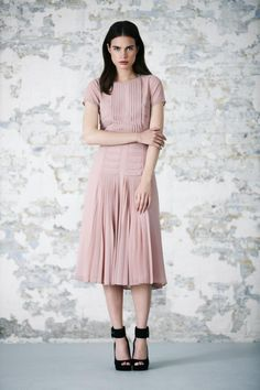 Pleated Bodice & Skirt Midi Dress: COMING SOON- Email me when in stock