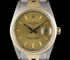 Rolex Date Gents Stainless Steel & Yellow Gold Champagne Dial 15223 Used Rolex, Rolex Date, Gold Champagne, Patek Philippe, Audemars Piguet, Gold Watch, Rolex Watches, Stainless Steel, Yellow