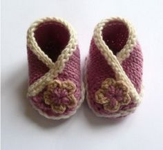Knitted Booties For Babies