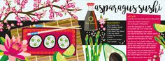 Asparagus Sushi by Lisa Kirkbride - They Draw & Cook