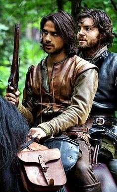 D'Artagnan and Athos, brothers at arms!!!  Don't they look good!!!