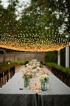 Hula-hoop Kronleuchter-effektvolle Gartenbeleuchtung-selber Machen ... Effektvolle Gartenbeleuchtung0 Ideen