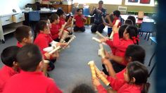 Class 18 at Pt England School practising the Ti Rakau Sticks! on Vimeo