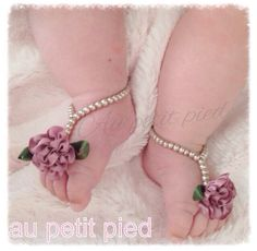 Baby+barefoot+sandals+baby+shoes+baby+jewelry+by+Aupetitpied,+$17.95