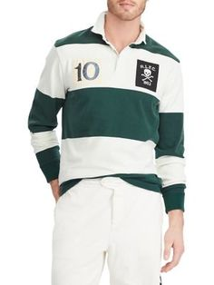 POLO RALPH LAUREN CLASSIC-FIT COTTON RUGBY SHIRT.  poloralphlauren  cloth    Polo f869e90bee