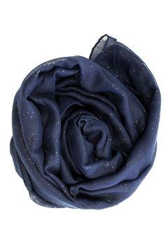 Glitter Viscose Hijab - Navy Blue