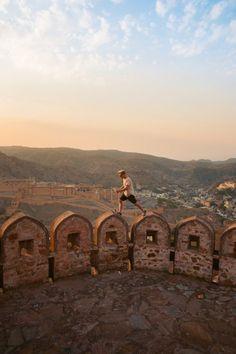 Exploring the Jaipur Wall Near Amer Fort, Rajasthan – We Seek Travel Blog Amer Fort, Jaipur, Monument Valley, Exploring, Beautiful Places, India, Wall, Amber, Blog