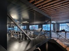 Conference room, stair & open office at Main Level.