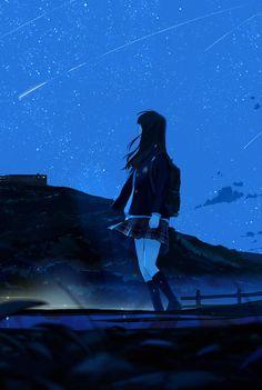 images for illustration anime art Sad Anime, Anime Love, Kawaii Anime, Anime Art Girl, Manga Art, Manga Anime, Aesthetic Art, Aesthetic Anime, Anime Galaxy