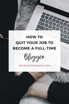 Let's just make this clear- you know you want it. If you love your blog, at some point you will consider taking it full-time and it's probably going to be one of the most exciting, yet scary career decisions! Now, take a deep breath and read this post, you've got this!
