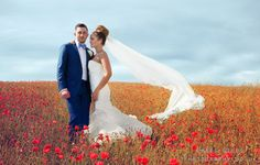 Roxy and Jamie in a Poppy Field at Pangdean Barn