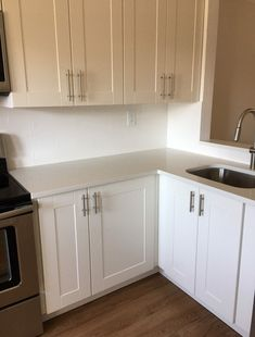 Need advice for quartz countertop with IKEA Grimslov Cabinet. Ikea Cabinets, Kitchen Cabinets, Ikea Quartz Countertop, Advice, Home Decor, Ikea Cupboards, Decoration Home, Tips, Room Decor