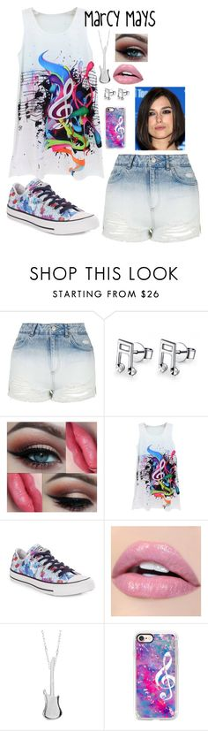 """""""Marcy Mays"""" by ladyjane-irving on Polyvore featuring Topshop, MaBelle, Converse, Edge Only and Casetify"""