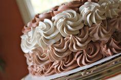 Paddle Attachment - Chocolate Ombre Swirl Cake.  Use 1m Tip/nozzle/tube.