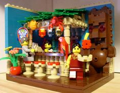 tiki bar made of legos!