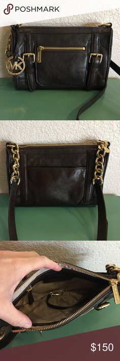 ✨Michael Kors Crossbody✨ Absolutely gorgeous dark chocolate brown small cross body McGraw.  Like new.  I only used it once Michael Kors Bags Crossbody Bags