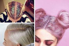 Le Glitter Roots, la tendance pailletée des cheveux pour l'hiver. #glitter #roots #tendance #paillettes #cheveux #hair #haistyle #hiver #winter #coiffure #monvanityideal