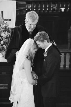 """Prayer is powerful - church wedding right before the """"I dos"""""""