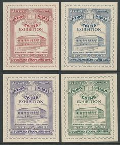 USA 1935 Boston 4th Stamps Medals Coins Exhibition