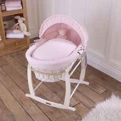 The Clair de Lune White Waffle White Wicker Moses Basket is a perfect first bed for your newborn. The chic White wicker is dressed with love in the UK with snugly pink Waffle cotton. Perfect for a baby girl's nursery, the simple fabric will coordinate with any decor beautifully. Treat a special new arrival!