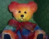 Antique Draperies Artist Teddy Bear Nature by SallyWineyBears. $75.00 USD, via Etsy.