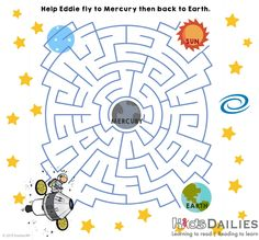 Daily10 Space Maze for children aged 8-12! --- Find more activities, games and fun for kids at www.kidsdailies.com/