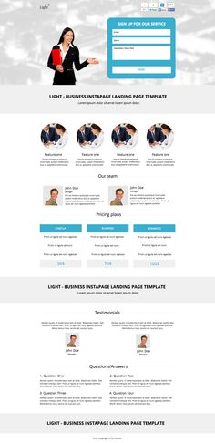 See the live template on Themeforest ➜ http://themeforest.net/item/light-business-instapage-landing-page-template/9276678