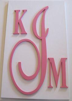 Custom Fancy Monogram Wooden Letters Home Decor Children S Nursery