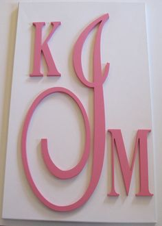 Custom Fancy Monogram Wooden Letters Home Decor Children's Nursery. $139.99, via Etsy.