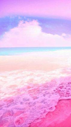 - nobody cares - pink beach Natur Wallpaper, Look Wallpaper, Ocean Wallpaper, Rainbow Wallpaper, Summer Wallpaper, Pink Wallpaper Iphone, Iphone Background Wallpaper, Aesthetic Pastel Wallpaper, Colorful Wallpaper