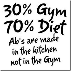 Im realizing this but havent figired out the diet thing yet
