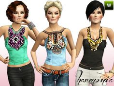 Beaded Top by Harmonia  http://www.thesimsresource.com/downloads/1166596
