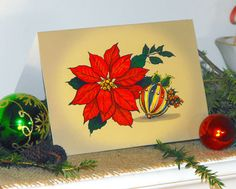 Etsy listing at https://www.etsy.com/listing/167879877/set-of-six-poinsettia-christmas-or