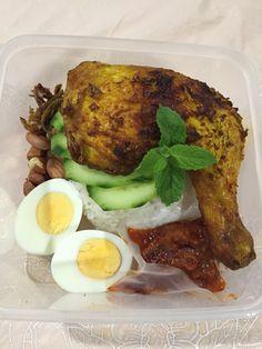 Nasi Lemak Tumeric chicken to go!