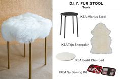 CLUMSY CHIC | DIY FUR STOOL                                                                                                                                                      More