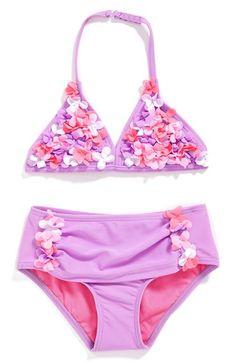 Hula Star 'Enchanted Garden' Two-Piece Swimsuit (Toddler Girls & Little Girls) Toddler Swimsuits, Swimwear Cover Ups, Girls Swimming, Beach Kids, Enchanted Garden, Two Piece Swimsuits, String Bikinis, Hula, Little Girls