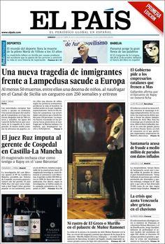 Los Titulares y Portadas de Noticias Destacadas Españolas del 12 de Octubre de 2013 del Diario El País ¿Que le pareció esta Portada de este Diario Español?