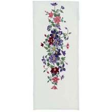 clematis cross stitch table runner