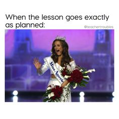 Miss Georgia Betty Cantrell was crowned Miss America 2016 at a ceremony in Atlantic City Sunday night. School Quotes, School Humor, Funny School, Best Teacher, School Teacher, Teacher Humour, Funny Teacher Memes, Miss Georgia, Teaching Memes