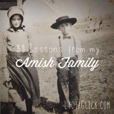 This is my first year to take up the Nester's challenge of writing on one topic for 31 days during the month of October. My blog is named Lydia Glick in honor of my two Amish grandmothers, and I am...