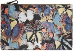 Valentino Multicolor Butterfly Pouch - $290.00
