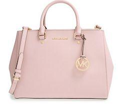 Leather light pink Michael Kors tote bag http://feedproxy.google.com/fashiongobags1